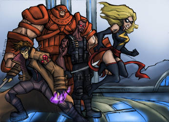 Commission: The Hero Team by R-Legend