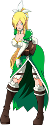 Commission: Ino as Leafa by R-Legend