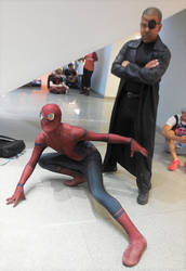 Spider-Man and Nick Fury by R-Legend