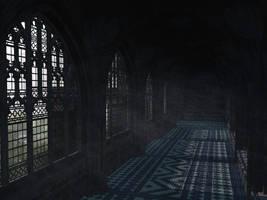 Hogwarts School Corridor by Everild-Wolfden