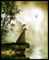 Faery Lady of the Lake by Everild-Wolfden