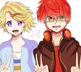 mystic messenger (707 and yoosung) by Ayaki14
