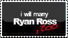 Stamp - Marry Ryan Ross by rachitick