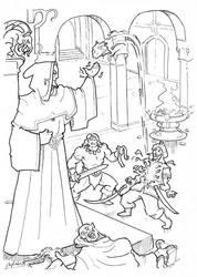 People of the Black Circle coloring sketch by Samael1103