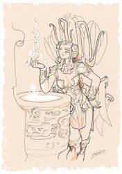 Lilith's fountain by Samael1103