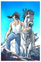 Wolverine Cowboy - Acrylic by taguiar