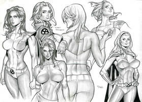 X-men Girls by taguiar