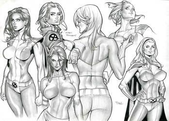 X-men Girls by taguiar