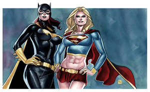 BATGIRL and SUPERGIRL Commission by taguiar