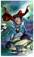 Superman Commission to Don Bohm by taguiar