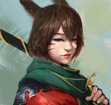 Final Fantasy XIV: Samurai by wacalac