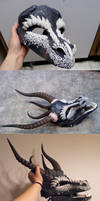 Dragon Mask WIP by Zhon