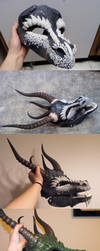 Dragon Mask WIP by Zhon