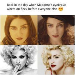 madonna eyebrows on fleek by ConfessionOnMDNA