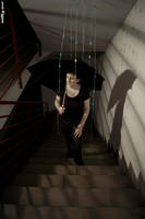 Raining between stairs by martabeceiro