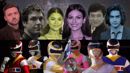 Hollywood Actors As Power Rangers: In Space V.2 by PrestonCondra