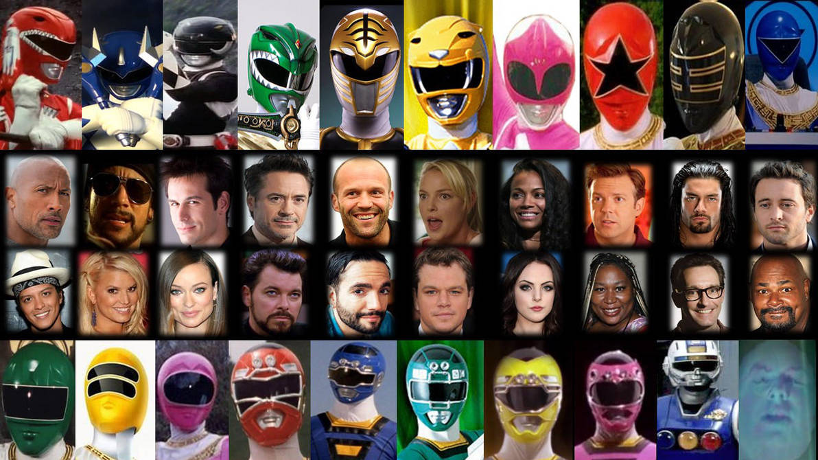 Hollywood Actors As Power Rangers MMPR, Zeo, Turbo by PrestonCondra