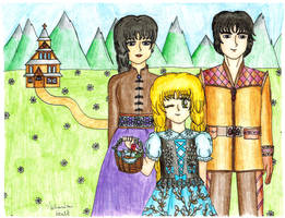 Bronia and her family bless Easter basket brighter by szynszyla-stokrotka