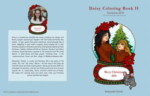 Collab with Rosariy Christmas Coloring Book Cover by szynszyla-stokrotka