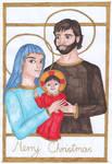 The Holy Family - Merry Christmas by szynszyla-stokrotka