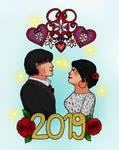 Happy New Year 2019 COLLAB WITH ROSARIY by szynszyla-stokrotka