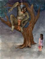 kapre with little girl by mau-i