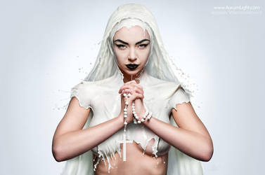 White Series - THE MILKY NUN by Jaroslav-AurumLight