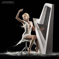 The Milky Harpist by Jaroslav-AurumLight
