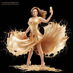 AurumLight for HTC featuring Kelly Brook by Jaroslav-AurumLight