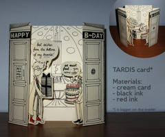 birthday card: TARDIS by n-th-green