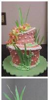 Final: Daffodil Wedding Cake by megilwenn