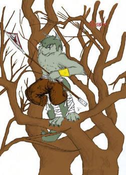 Orsarno through the trees.... by legendleaf