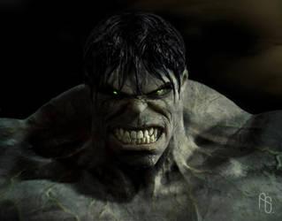 Early Hulk by aaronsimscompany