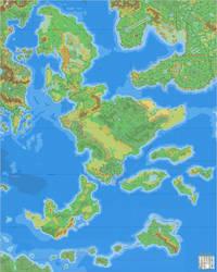 A Sea of Dawn Islands by Ramelin