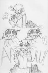 Ori and Lucas the Spider (Sketch comic crossover) by farahin001