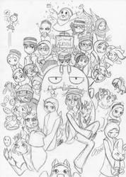 Happy Mubarak/Selamat hari Raya All!!! (Sketch) by farahin001