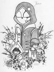 Icano meet Six and Seven's flowers (LN sketch) by farahin001