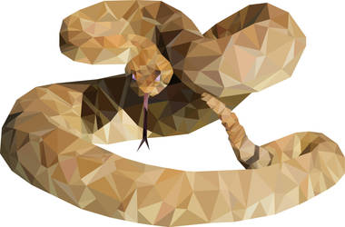 Low-poly: Rattlesnake by shark1028