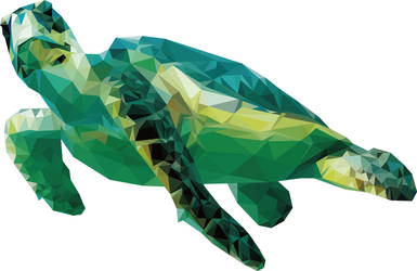 Low-poly: Sea Turtle by shark1028