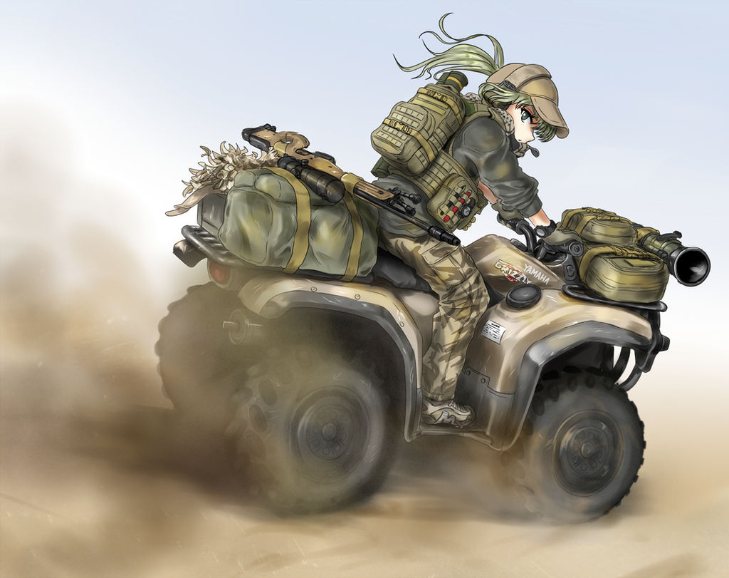 Quad Bike Patrol by Geococcyx