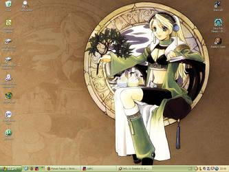 Desktop with Marie by GoNik by MayaMinamoto