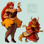 Bowsette by Borabee