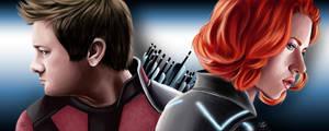 Hawkeye and Black Widow by gabiFaveri