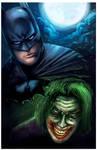 Batman and Joker by michellescribbles