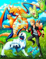 Pokemon team commission by michellescribbles