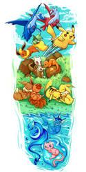 pokemon commission by michellescribbles