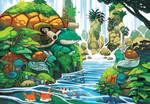 pokemon water sanctuary by michellescribbles