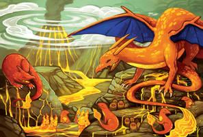 FIRE sanctuary by michellescribbles