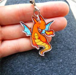 Orange Dragon Charm by michellescribbles