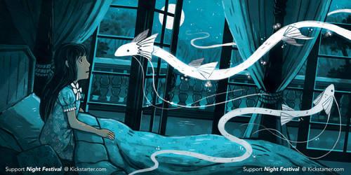 Night Festival - Illustrated Book Kickstarter by michellescribbles